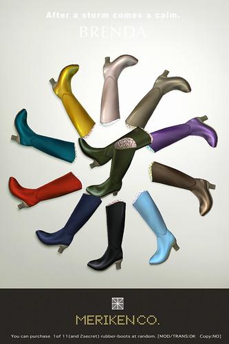 "rubber-boots ""BRENDA"" GACHA"