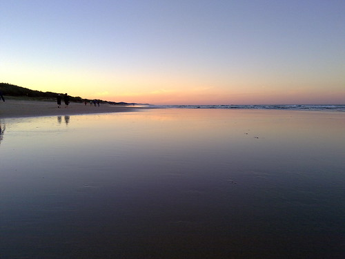 Coolum Beach at Sunset