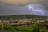 crazy lightning (INEX2009) Tags: nikon stuttgart fernsehturm lightning blitz gewitter electricalstorm unwetter nikond90 daimlerag