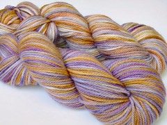 ~Sour Grapes~ Soyeux BFL Aran Kettle Dyed *second*<br><b> 100% HC$ Auction
