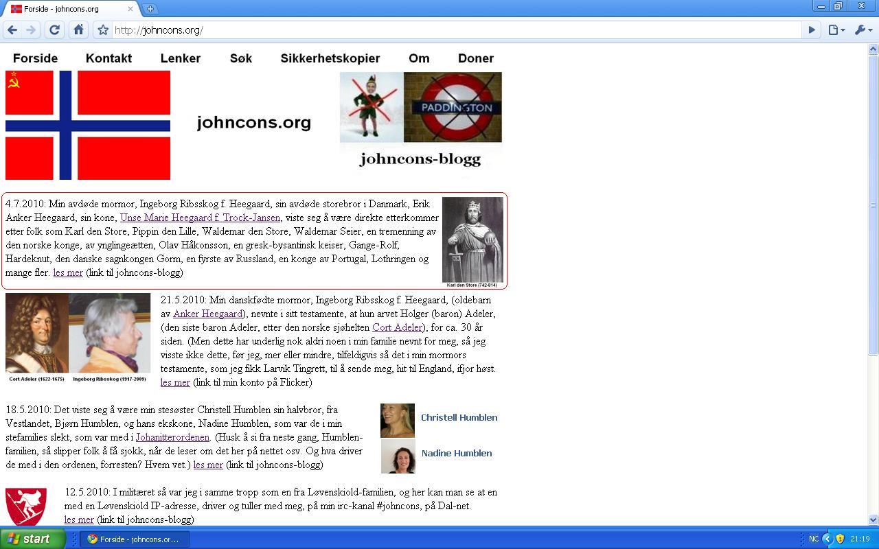 oppdaterte johncons org