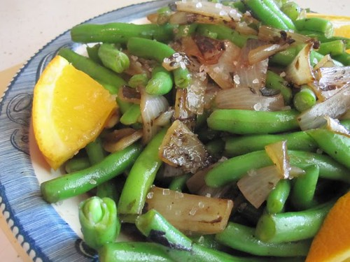 Green Bean Salad with Charred Onions @ Stirring the Pot