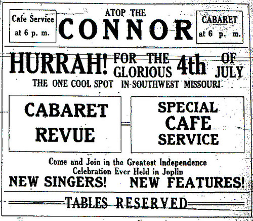 Connor Fourth of July ad from 1913