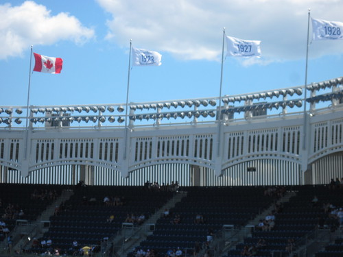 Canada Flag at Yankee Stadium
