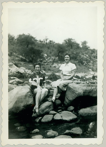 Two women on the rocks