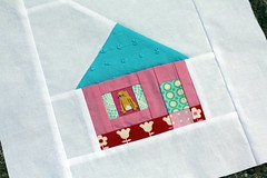 Sugar Shack (green ink) Tags: house 29 quiltblock munkimunki scrapbeelooza 60blocksofsummer