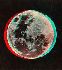 The Moon published by Joseph L. Bates 1860's anaglyph 3D (depthandtime) Tags: old moon vintage found stereoscopic stereophotography 3d view antique anaglyph photographic stereo card views stereoview bates 1860s stereograph foundphoto anaglyphic stereographic redcyan holmesbates josephlbates