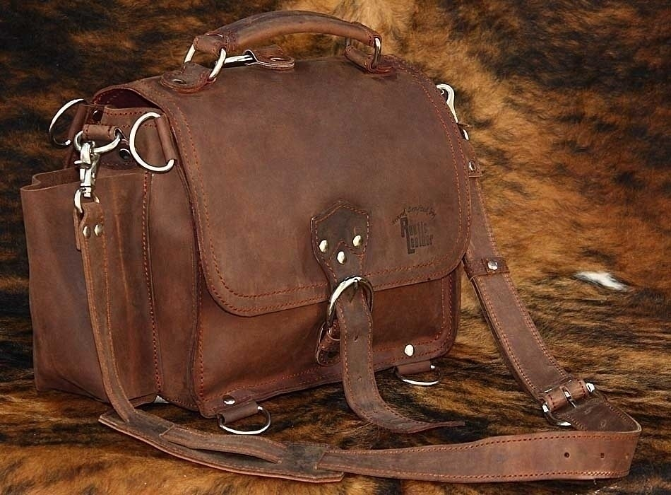 Rustic Leather Satchel side