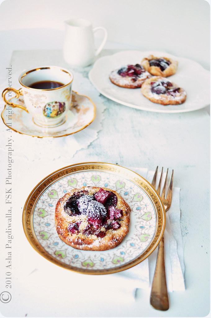 Rhubarb & Cherry Frangipane Tartelettes