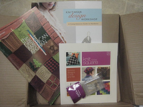New knitting books and blocking pins