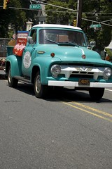 Light Blue Old Pickup Truck (aivzdogz) Tags: new old blue light cute truck town day year nj july pickup parade celebration hundred jersey 100 independence fourth fifth 2010 ridgewood torquoise