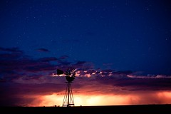 Night on the Plains (Dan Ballard Photography) Tags: storm windmill beautiful sunrise photography colorado photographer photograph western ballard lightning southeast danballardphotography