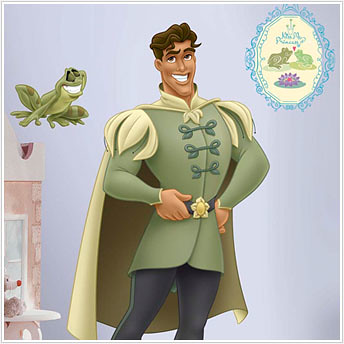 Princess and the Frog; Naveen - Giant Princess Wall Stickers
