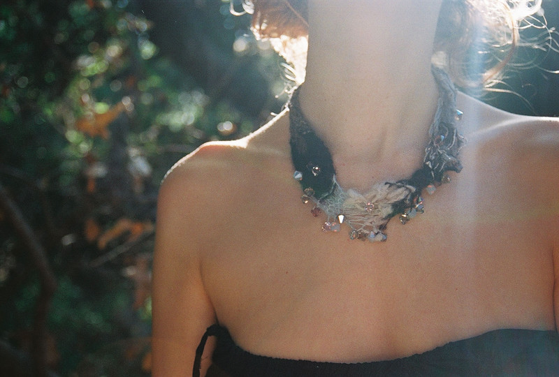 Knitted mohair necklace by shadowplay 22