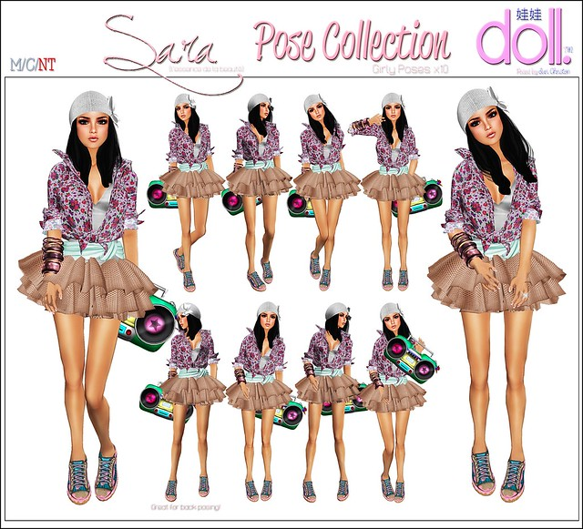 [doll.]™ Sara Pose Collection