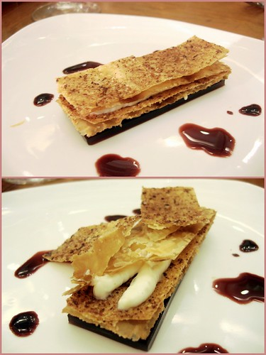 Mille Feuille of Strzelecki Blue with Port Wine Gel