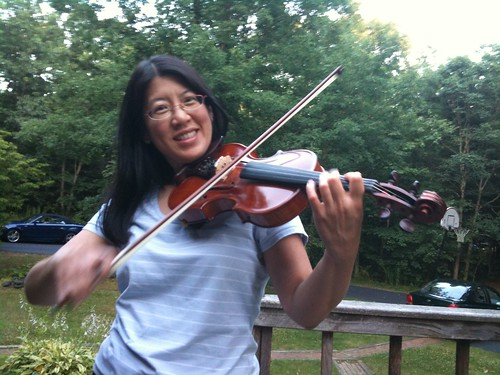 Fiddling on the deck