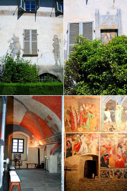 Affreschi della cappella del castello di Bagnolo Piemonte