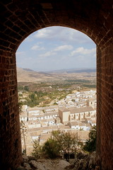 Blick auf Velez Blanco, Andalusien