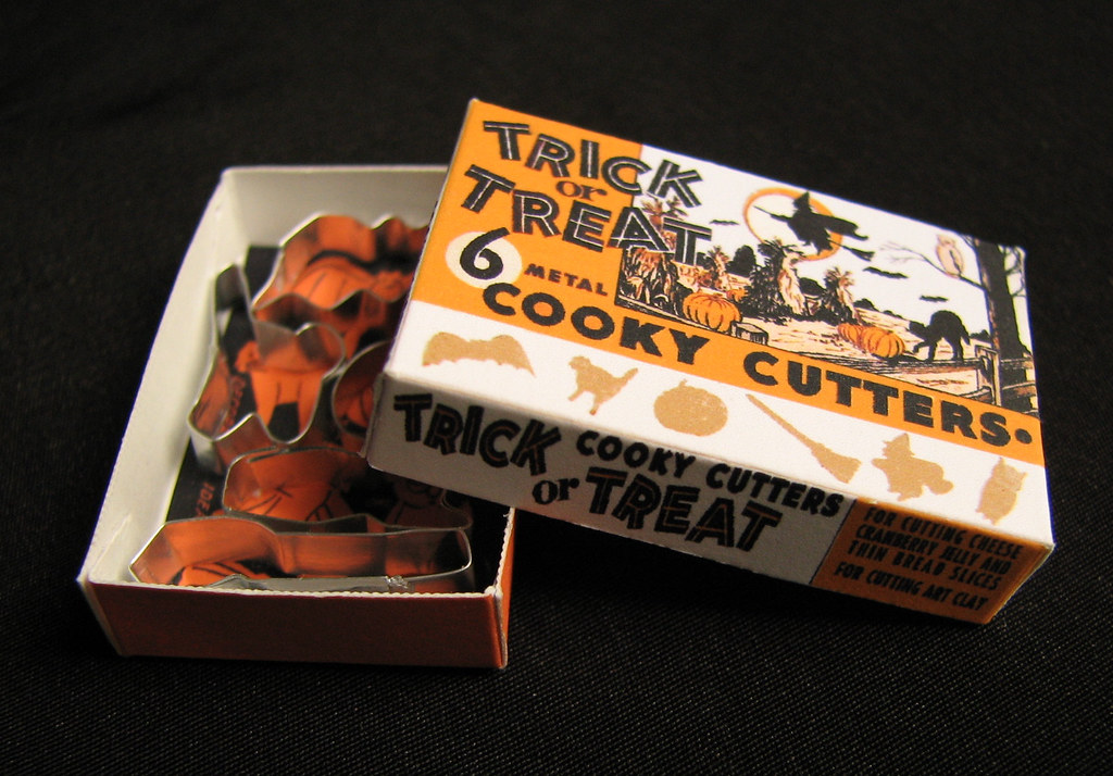 Miniature dollhouse Halloween cookie cutters