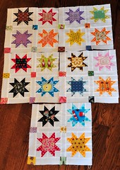 A Bit 'O Preview (JulieFrick) Tags: star quilt progress 45 49 spotty block 48 44 47 46 scrappy 60blocksofsummer