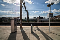 void (nosha) Tags: light shadow sky usa beautiful beauty station clouds train liberty newjersey airport alone nj july wideangle tokina airtrain international wires transit flare newark void pm 2010 lightroom nosha nikond40 noshalikes 130secatf14 ul20100708a