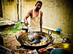 master chef! (digitaldesi) Tags: food india cooking canon cook culture chef share punjabi frying pind pakoras halwai punab