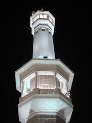 Haram minarets at night, Makkah (Ammer Amin) Tags: adam gabriel angel paradise muslim islam abraham mosque mohammed madina saudi arabia messenger muslims ibrahim haram prophet mohammad mecca masjid allah umrah islamic aisha makkah hajj pilgrims prophets muhammed madinah kaaba rawdah marwah zamzam thegreatmosque jannat haramsharif raudah
