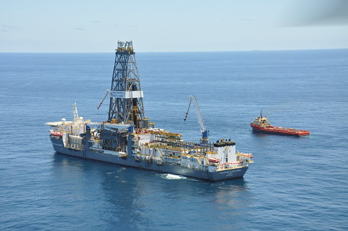 New Drill Ship Discover Clear Leader Assists in Oil Recovery