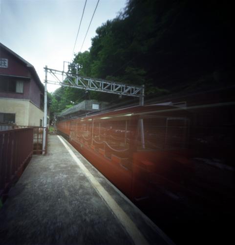 黒部峡谷鉄道・鐘釣駅発車(欅平行き)