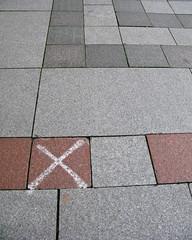X Marks the Spot (prima seadiva-moving slow) Tags: seattle streetart graffiti downtown cross stickers x xmarksthespot