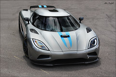 Koenigsegg Agera (Alex Penfold) Tags: new blue cars alex sports car yellow canon photography eos grey photo crazy cool image stripes awesome picture fast super exotic photograph hyper supercar goodwood exotica sportscar koenigsegg 2010 penfold segg hypercar 450d hpyer agera koineg
