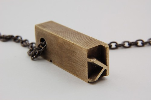 BRASS VINTAGE LETTERPRESS NECKLACE