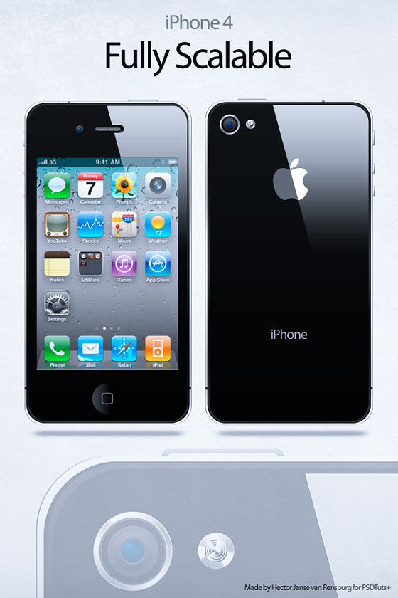 iPhone 4 en vectores
