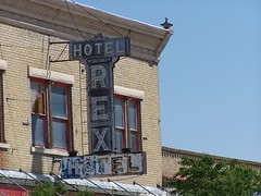 Rock Springs WY ~ Hotel Rex - Old Neon Sign (Onasill ~ Bill Badzo) Tags: old sign rock retail vintage hotel store neon 10 5 district cent front 25 springs co register wyoming rex wy newberry nrhp