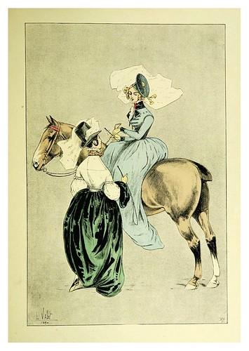 024-Amazonas de Humann 1837-Le chic à cheval histoire pittoresque de l'équitation 1891- Louis Vallet