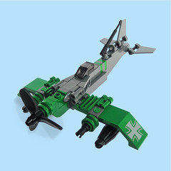 Sentai Zero - Sky Fighter (Fredoichi) Tags: plane fighter lego space military micro shooter shootemup skyfi shmup microscale skyfighter fredoichi