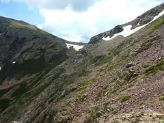 Exploration vers la brèche du Sphinx : nous sommes à la hauteur du col de Foggiale