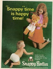 Snappy Time... (glen.h) Tags: vintage women babies 70s magazines 1970s seventies nappies advertisments newidea snappypanties