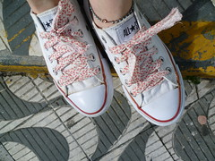 Cadarço de tecido estilo liberty (super_ziper) Tags: flores liberty diy shoes handmade craft super tenis allstar tutorial pap vies tecido colorido xadrez ziper inspiração cadarço ideias superziper