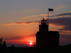 Holland Light House Sunset (LadyDragonflyCC - >;< - Spring in Michigan!) Tags: wedding sunset vacation lighthouse holland dinner fuji dress michigan anniversary july husband wed finepix wife proposal 2010 decade 10years s100fs july152000 cimalacustomphotography