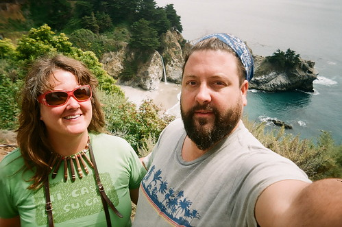 ellen and chad at mcway falls