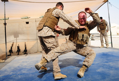 Marines spar during a martial arts course - a photo on Flickriver