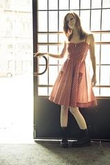 DS2_6512_v1 (Minna [synvinklar.se]) Tags: lund color colour girl fashion outside model dress lin minna polkadot nilsson minnanilsson synvinklar synvinklarse httpsynvinklarse