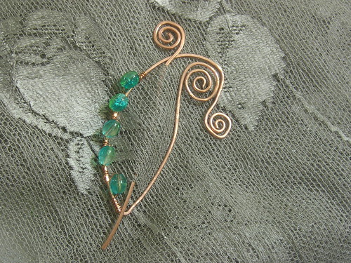 Another picture of the new shawl pin design