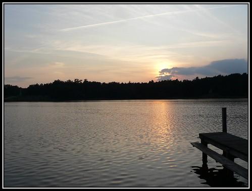 Sonnenuntergang am Grienericksee