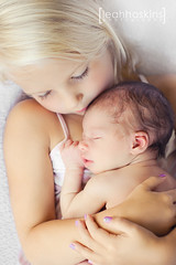 .love at first sight. {explored} (*miss*leah*) Tags: girls love girl sisters nikon newborn cuddle hugs sibling sleepingbaby professionalchildrensphotography newbornphotography nikond700 leahhoskins professionalchildrensphotographer