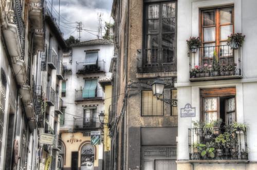 Plaza de cuchilleros. Granada, Spain.