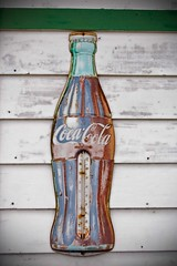 Coca-Cola (William 74) Tags: sign metal coke faded cocacola thermometer oldsign vintagesign citiesservice