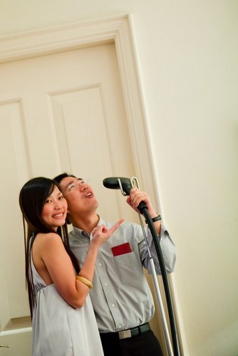 Ho Wei & Eileen goofing
